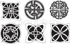 Illustration of Six knot dingbat designs. Vector vinyl-ready EPS Illustration, black and white sketches. vector art, clipart and stock vectors. Celtic Patterns, Celtic Designs, Celtic Symbols, Celtic Art, Border Pattern, Circle Pattern, Celtic Knot Circle, Celtic Knots, Design Celta