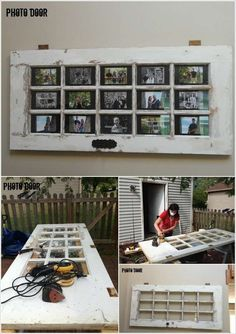 Old door picture frame diy 57 ideas for 2019 Old French Doors, Old Doors, Salvaged Doors, Repurposed Doors, Diy Design, Interior Design, Luxury Interior, Cadre Photo Diy, Diy Photo