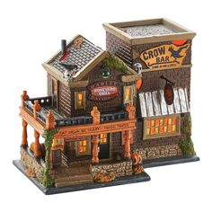 Department 56 Snow Village Halloween Harley® Crow Bar