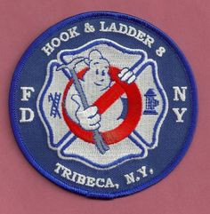 FDNY Ladder 8 Patch ( The Ghostbusters Fire House )