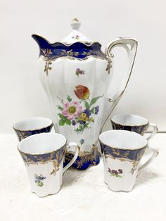 Beautiful Antique Limoges Chocolate Set