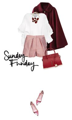 """Sunday funday"" by perlarara ❤ liked on Polyvore featuring Delpozo, Kate Spade, MSGM, Raoul, women's clothing, women's fashion, women, female, woman and misses"