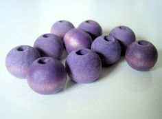 Blue Violet Hand Dyed Wood Beads, Jewelry Supplies, General Crafts by #2MoonswithCharm #handmade #beads