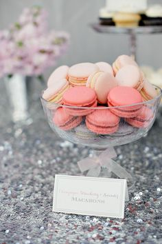 Macaroons  See the rest of this beautiful gallery: http://www.stylemepretty.com/gallery/picture/937835/