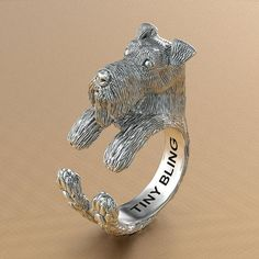 Airedale Terrier Breed Jewelry Cuddle Wrap Ring