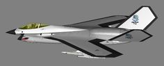 And now a lone render of Saber II. Gonna have to slap my ghetto pilot in my F-14E and F-56 so I can get a shot of some fighters in formation...