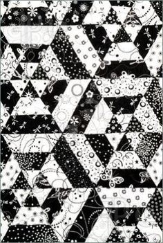 quilt - black & white by may