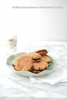 30 Minute Peanut Butter and Jelly Sandwich Cookies - BoulderLocavore.com