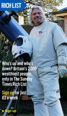 "Sunday Times Rich List, covering ""Britain's 2,000 wealthiest people"" (subscription required) Sunday Times Rich List, Wealthy People, Britain, Public, Cover"