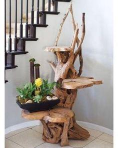 Driftwood Shelf, Driftwood Furniture, Driftwood Projects, Log Furniture, Antique Furniture, Outdoor Furniture, Furniture Stores, Furniture Makeover, Furniture Ideas