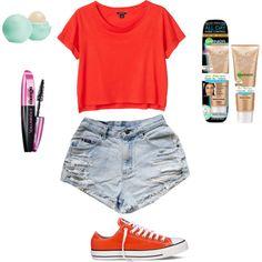 Amusement Park Outfit by sara2699 on Polyvore featuring Monki, Converse, Eos and L'Oréal Paris