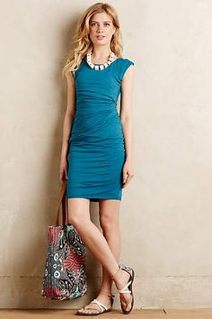 Ruched Tee Dress - anthropologie.com