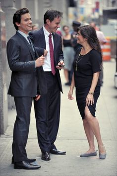 Matt, Tim and Tiffani joke between takes.