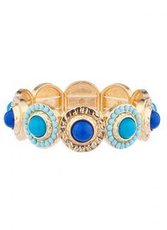 Overture Stone Bangle Bracelet Blue at Prima donna
