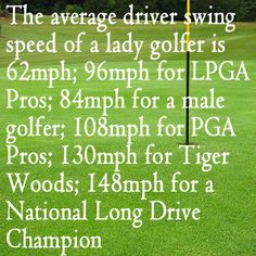 The good news is that for every 1MPH of clubhead speed you gain 2.5 yards of distance. The bad news is you can't just swing faster you have to ensure that your golf swing mechanics are good first. If you can perfect the first 12 inches of the golf swing you have a very good chance of building a consistent and repeatable golf swing. And, once you have perfected that then you can learn to swing faster, and faster and faster......and go longer, and longer and…