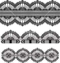 Lace design vector on VectorStock®