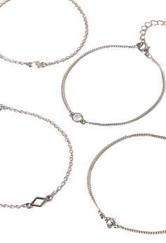 Mixed Geo Charm Bracelet - Jewellery - 1000097531 - Forever 21 EU
