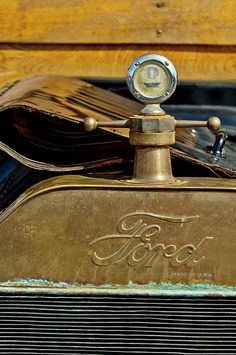 1915 Ford Depot Hack Hood Ornament - Car Images by Jill Reger