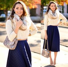 Cute and preppy look to go out to eat with family, friends, date, etc.