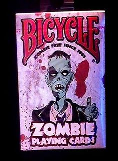 Bicycle Playing Deck of Cards New & Sealed ~ Zombie Survival Tips & Zombie Theme