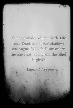 Edgar Allen Poe morose thoughts on life and death