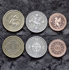 Fantasy Coins for Board Games . #fantasy #coins #boardgames #rpg #tabletopgames #dungeonsanddragons #MMORPG