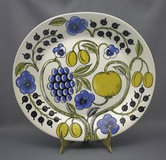 Arabia Of Finland Paratiisi Oval Serving Salad 9 Plate Porcelain Dish Very