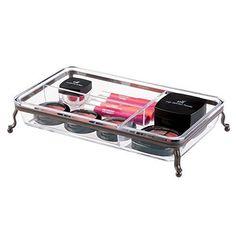 Design Fashion Jewelry Cosmetic Organizer Tray Storage plastic Beauty New #MetroDecor