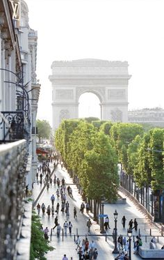 Paris meridian hotel is at the end of this road. view you see when walking down towards champ de lysee