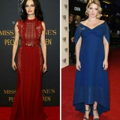E estes dois vestidos encantadores, vermelho #eliesaab, na Eva Green. E  lapis blue #louisvuitton, na Lea Seydoux!⭐ #glam #evagreen #leaseydoux #fashion #styles #missperegrineshomeforpeculiarchildren #newyork #itsonlytheendoftheworld #london #redcarpets