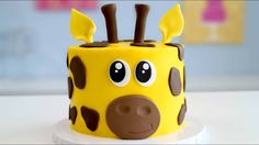 EASIEST GIRAFFE CAKE! - YouTube
