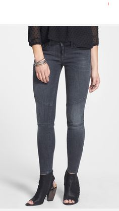 Moto Ankle Skinny Jeans