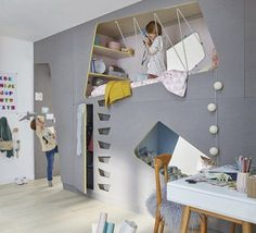 How cute and clever is this kids bedroom? :)