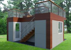Garden Office With Roof Deck Design A Home For The Backyard