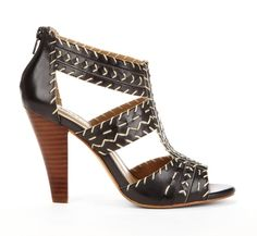 Call me Arizona - Also in tan. Stacked heel sandal.... I need a pair of these like right meow....