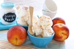 EASY Peach Ice Cream via @The Hungry Housewife...One of my all time favorite things.