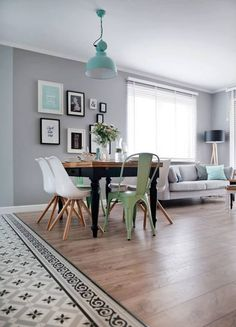Great Dining Room Colors Ideas To Make Extraordinary Look Flur Design, Küchen Design, House Design, Dining Room Colors, New Interior Design, Living Room Flooring, Traditional Decor, Home Decor Trends, Contemporary Decor