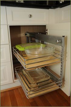 Blind corner cabinet with full access trays - Medallion Cabinetry ...