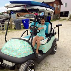 Lilly Driving🌴 Grown Up Christmas List, Golf Cart Covers, Golf Carts, Dear Santa, Lily Pulitzer, Jeep, Beach House, Ali, Lifestyle