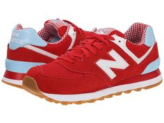 New Balance Classics WL574 - Picnic Collection Yellow/White/Suede/Mesh - Zappos.com Free Shipping BOTH Ways