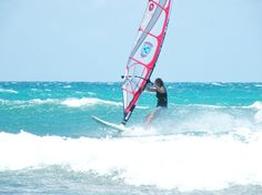 The missus wave riding - Maui - June 2012