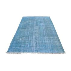 Turkish Oushak Blue Overdye Rug - 5′6″ × 7′10″ ($785) ❤ liked on Polyvore featuring home, rugs, contemporary handmade rugs, handmade turkish rugs, wool rugs, overdyed blue rug, overdyed wool rug and wool area rugs