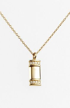 Women's Kwiat 'Mollie Faith' Small Tablet Pendant Necklace - Yellow Gold