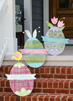Trendy Easter Door Decorations Front Porches Home Ostern Party, Diy Ostern, Easter Bunny Ears, Easter Eggs, Diy Osterschmuck, Diy Easter Decorations, Diy Decoration, Decor Ideas, Outdoor Decorations