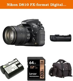 Nikon D810 FX-format Digital SLR Camera Body with 24-120mm f/4G ED VR Lens + Nikon MB-D12 Multi Battery Power Pack and Accessories. 36.3 MP FX-format CMOS sensor without an Optical Low Pass Filter (OLPF). MS-D12EN Li-ion Rechargeable Battery Holder for MB-D12 Battery Pack. Store, carry and protect your camera equipment. High-speed, Class 10 performance-leverages UHS-I technology for a read transfer speed up to 633x (95MB/s). Guaranteed to function like the Nikon original EN-EL15 for the...