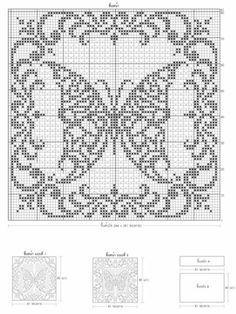 Crochet Doily Diagram, Filet Crochet Charts, Crochet Square Patterns, Doily Patterns, Crochet Doilies, Bobble Crochet, Crochet Art, Thread Crochet, Crochet Stitches