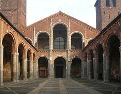 Sant'Ambriogio - Milan's patron saint - example of Lombard romanesque.