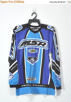 310cd4291c Vintage MSR Rage Malcolm Smith Racing BMX Motocross Cotton Long Sleeve Retro  Jersey Tee Shirt Size Medium Made in USA