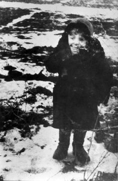 German Death Camps - Lodz, Poland, A Jewish boy in the ghetto. Belongs to collection: Yad Vashem Photo Archive