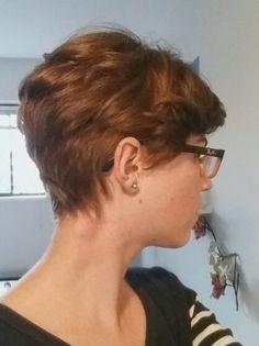 textured pixie cut | long undercut, wispy at nape
